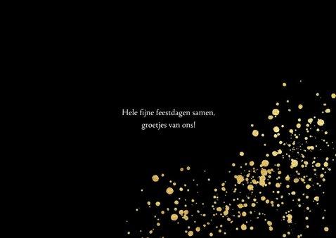 Stijlvolle fotokaart met gouden confetti en typografie 3