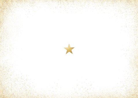 Stijlvolle goudlook fotokaart met gezonde kerst Achterkant