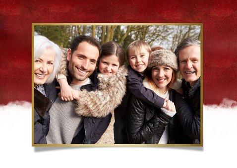 Stijlvolle kerstdiner uitnodiging met ruimte voor eigen foto 2