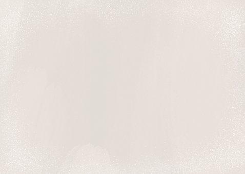 Stijlvolle kerstkaart fotocollage 2021 happy holidays beige Achterkant