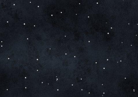 Stijlvolle kerstkaart sterren en jaartal 2021 Achterkant
