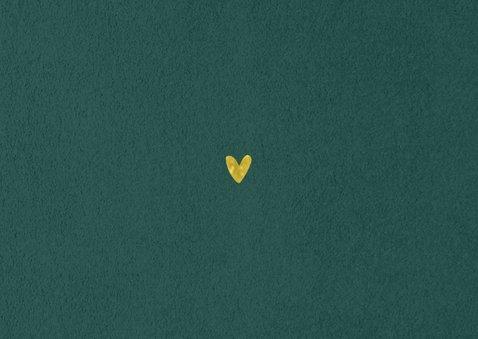 Stijlvolle, klassieke save the date kaart velvet goud Achterkant