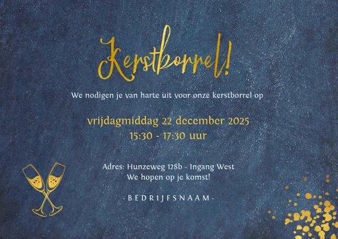 Stijlvolle liggende uitnodiging voor zakelijke kerstborrel 3