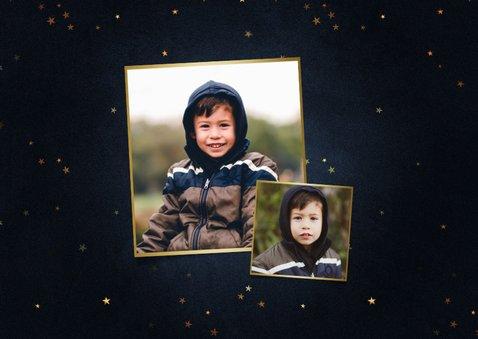 Stijlvolle nieuwjaarskaart 2021 goud 2 fotos happy new year 2
