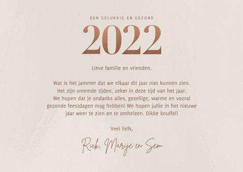 Stijlvolle nieuwjaarskaart bronzen 2022 en fotocollage 3