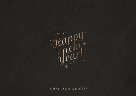 Stijlvolle nieuwjaarskaart foto 'Happy New Year' fonkels 3