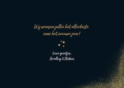 Stijlvolle nieuwjaarskaart met gouden kader en 2020 3