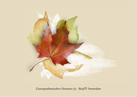 Stijlvolle rouwkaart herfst met eigen foto 2