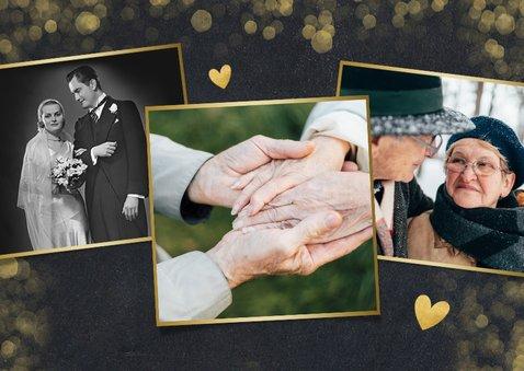 Stijlvolle uitnodiging huwelijksjubileum 60 jaar met goud 2