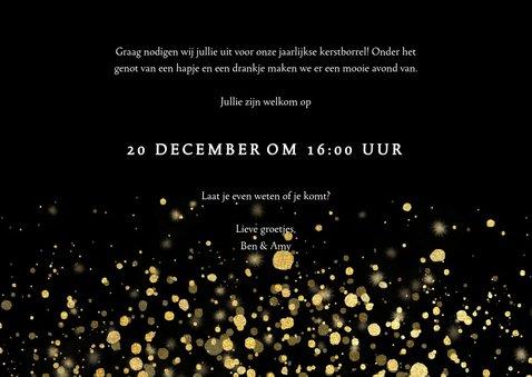 Stijlvolle uitnodiging kerstborrel met confetti 3