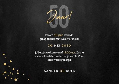 Stijlvolle uitnodiging verjaardag 50 jaar foto's en spetters 3
