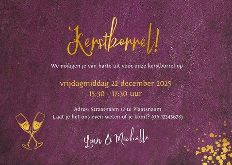 Stijlvolle uitnodiging voor jouw kerstborrel 3
