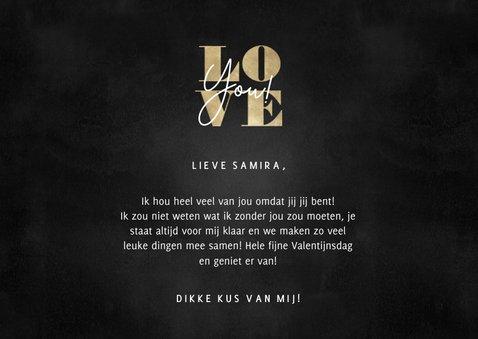 Stijlvolle Valentijnskaart gouden Love en foto's 3
