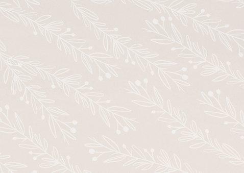 Stijlvolle verlovingskaart goudlook tekst naturel takjes Achterkant