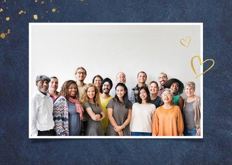 Stijlvolle zakelijk bedankkaartje voor medewerkers met goud 2