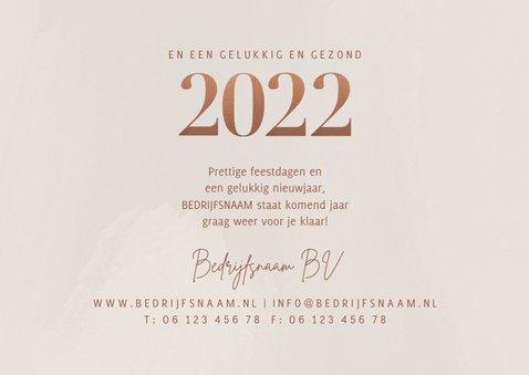 Stijlvolle zakelijke kerstkaart fotocollage en grote 2022 3