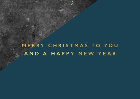 Stijlvolle zakelijke kerstkaart met beton en typografie 2