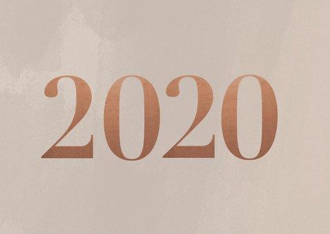Stijlvolle zakelijke kerstkaart met fotocollage, logo & 2020 2