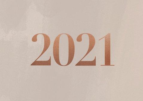 Stijlvolle zakelijke kerstkaart met fotocollage, logo & 2021 2