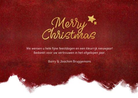 Stijlvolle zakelijke kerstkaart met verfroller en foto  3