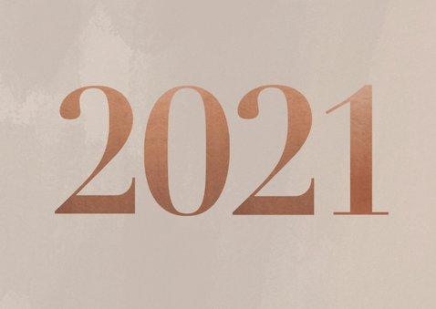 Stijlvolle zakelijke nieuwjaarskaart 2021 en 2 foto's 2