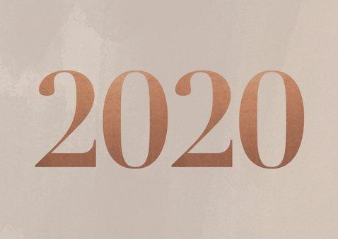Stijlvolle zakelijke nieuwjaarskaart met fotocollage en 2020 2