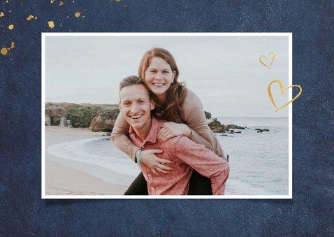 Stilvolle Ostergrußkarte dunkelblau Foto innen 2