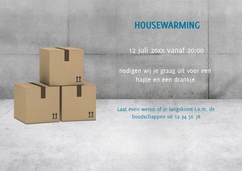 Stoere industriële verhuiskaart/housewarming met neon tekst 3