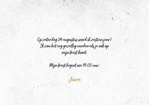 Stoere uitnodiging jongen 16 jaar 3