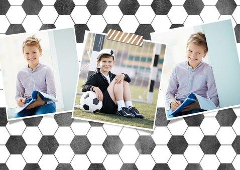 Stoere voetbal communie uitnodiging jongen met foto 2