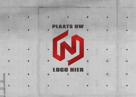 Stoere zakelijke 'Happy 202' met neon en eigen logo1 2