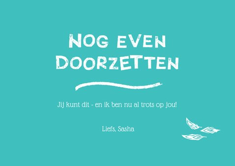 Succes kaart met uil - HooHoo You Got this! 3