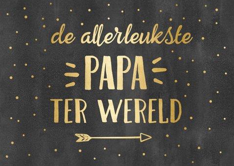 Tegoedbon kaart krijtbord met goud voor papa 2