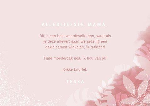 Tegoedbon voor moederdag met plantjes, spetters & typografie 3