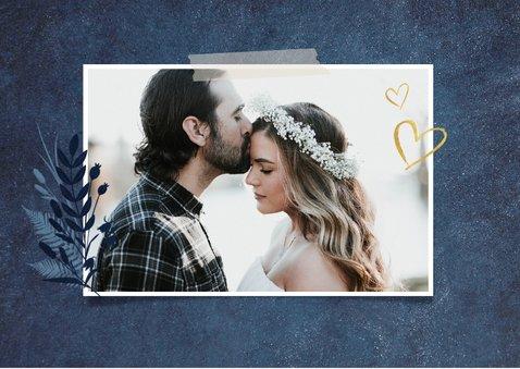 Terminänderung Hochzeit dunkelblau Foto 2