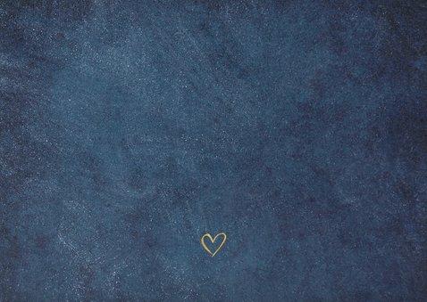 Terminänderung Hochzeit dunkelblau Foto Rückseite