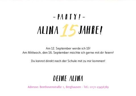 Tolle Einladung für Teenager zum 15. Geburtstag 3
