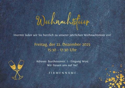 Trendy Einladung zur Weihnachtsfeier mit Goldschrift 3