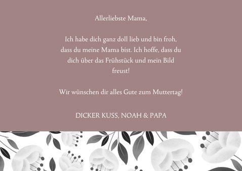 Trendy Muttertagskarte mit 3 Fotos und Blumen 3