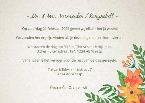 Trouwkaart Mr. & Mrs. Bloemen  3