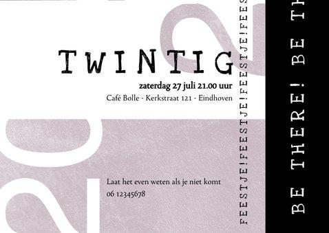 Uitnodiging 20, modern met speelse typografie 3