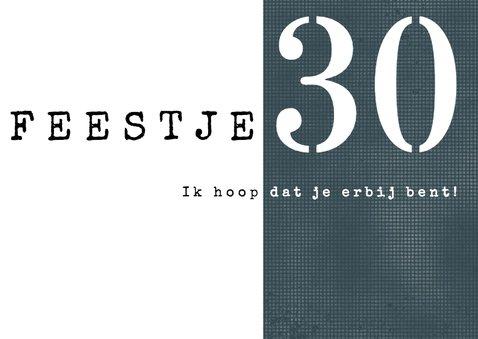 Uitnodiging 30ste verjaardag, modern en stoer met foto 2