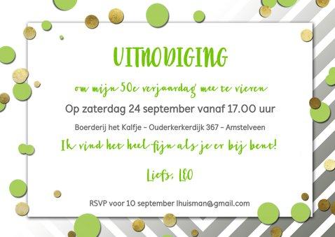 Uitnodiging 50 ballon groen 3