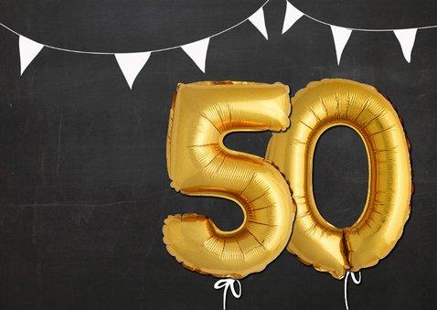 Uitnodiging 50 jaar Ballon goud 2