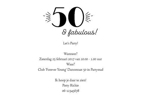 Uitnodiging 50 Sarah/Abraham 3