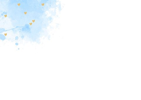 Uitnodiging babyshower aquarel hartjes lichtblauw 2