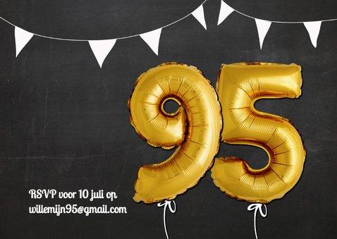 Uitnodiging Ballonnen goud 95 2