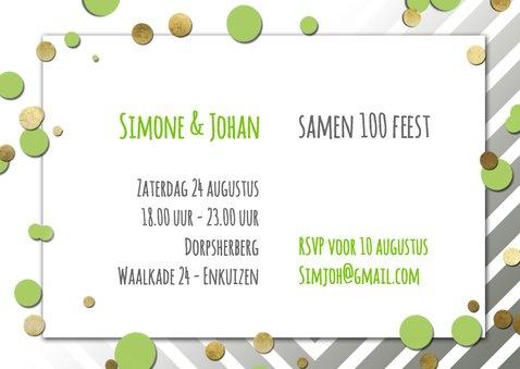 Uitnodiging ballon  samen 100 - SG 3