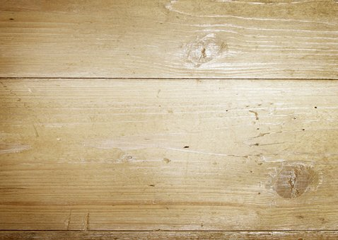 Uitnodiging bbq met hout en foto Achterkant