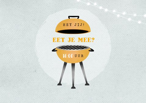Uitnodiging bbq tuinfeest barbecue grill vintage illustratie 2